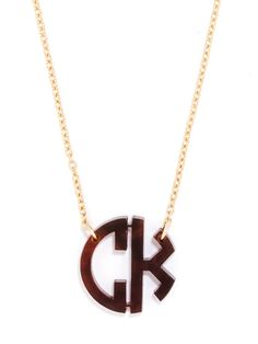 Add your initials to this monogram necklace to add a personal touch to any outfit. This colorful, acrylic necklace is from BaubleBar – your source of fashion jewelry.