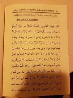 """Havvas alimleri diyor ki: """"Aşağıdaki Âyet el Kürsi davetini bir defa okuyan kimseye Allah bütün hayırlı kapıları açar.O kimsenin işlerini … Allah, Free Books, Quotes, Crafts, Istanbul, Picasa, Quotations, Manualidades, Handmade Crafts"""