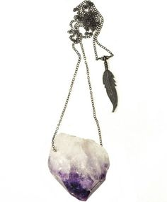 $300 Little Doe Amethyst Crystal Pendant Necklace