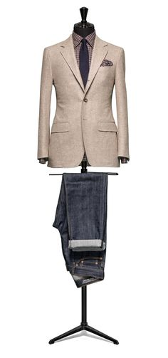 Beige jacket Faux uni slightly brushed S100 http://www.tailormadelondon.com/shop/tailored-jacket-fabric-7820-plain-beige/