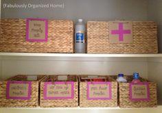 Organize my home pharmacy.