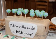 Darling mission call reveal blog:Globe Oreo Truffles and Missionary Cupcakes