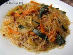 La cucina di Lilla (adessosimangia.blogspot.it): Cina e Giappone: Spaghetti di soia con carne e ver...