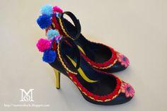 Caroline Issa for L.K. Bennett DIY shoes by Matter of Style