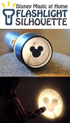 Disney Magic at Home: Flashlight Silhouette!