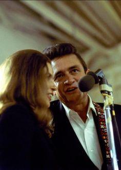 Johnny Cash and June Carter Cash performing at Folsom prison on Jan. 13, 1968.