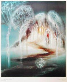 Zdeněk Hajný .. Tarot, Waterfall, Waves, Outdoor, Advent, Paintings, Abstract, Outdoors, Paint
