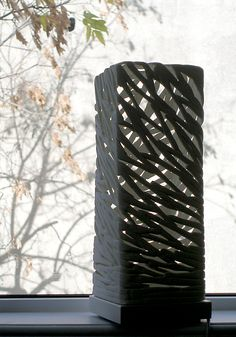 Strokes Mini Table Luminaire by Muhammad Moussa: Ceramic Table Lamp available at www.artfulhome.com