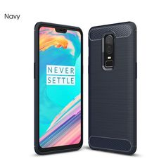 1a9bd2772b9 Carbon Fiber Soft Silicon Case For Oneplus 6