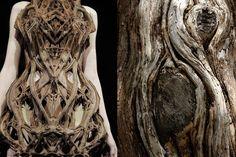 Match #110 Iris Van Herpen Spring 2012 | Old tree bark