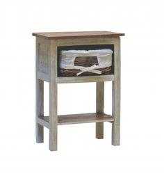 Yöpöytä Jamaica korilla   Uuttakotiin.fi Korn, Jamaica, Nightstand, Table, Furniture, Home Decor, Bedside Desk, Night Stands, Interior Design