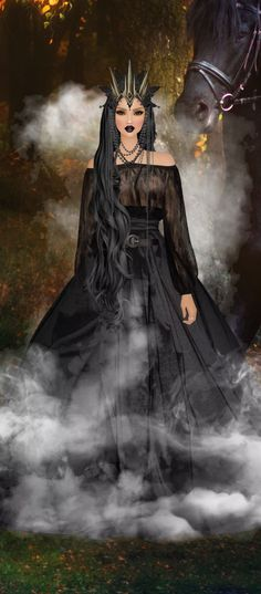Fantasy Witch, Fantasy Women, Covet Fashion, Witches, Fairies, Queens, Angels, Goth, Sport