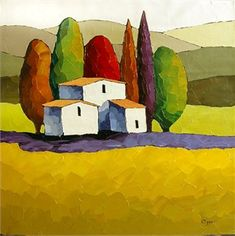 "Sveta Esser Hand Signed and Numbered Limited Edition Giclee on Canvas: ""Mountain Retreat"""