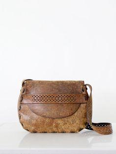 SOLD vintage 70s leather bag / boho purse by 86Vintage86 on Etsy, $265.00