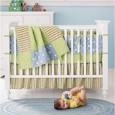 Sophie's Crib bedding .... could totally work for a boys room with blue walls!