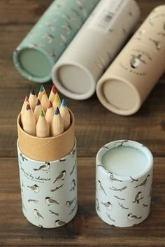 Kawaii Pencil with Round Box - Jungle Story 02 [love the edges]