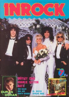 Heather Locklear & Tommy Lee wedding. In Rock magazine. Motley Crue, Ratt.