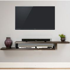 """You'll love the Ascend 72"""" Asymmetrical Wall Mounted TV Component Shelf at Wayfair - Great Deals on all AV products with Free Shipping on most stuff, even the big stuff."""