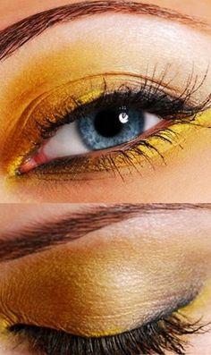 Make up suggestion : YELLOW EYE MAKE UP :