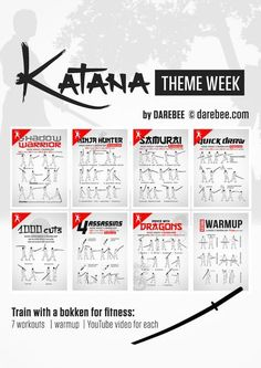 7 Bokken Workouts | WarmUp | YouTube Video for each