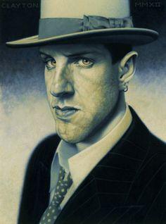 Thomas Clayton, Portraits. Portraits by British artist Thomas...