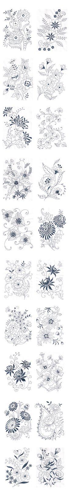 Vintage Floral Design - Machine Embroidery Design on Behance