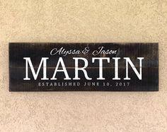 Established Sign, Family Name Sign, Wedding Gift Sign, Wedding Date est sig, pallet art, wood sign