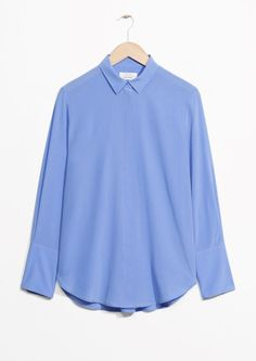 & Other Stories Silk Shirt in Blue