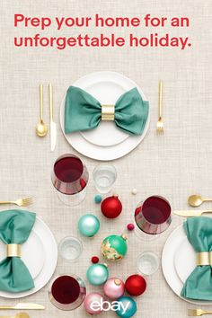Make your table stand out this holiday season with décor that shines and shimmers. From tablerunners and flatware to centerpieces and place settings, we have all you'll need to host a beautiful party on eBay.