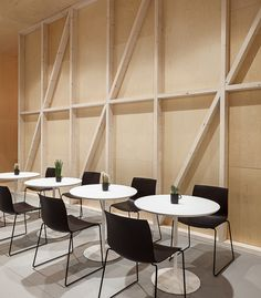 office bar with Catifa chairs by lievore altherr molina