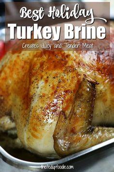 Easy Turkey Brine, Moist Turkey, Roast Turkey Recipes, Oven Roasted Turkey, Meat Recipes, Real Food Recipes, Dinner Recipes, Baked Turkey, Chicken Recipes