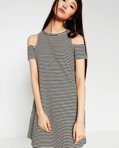Image 1 of DRESS WITH CUT-OUTS AT THE SHOULDER from Zara