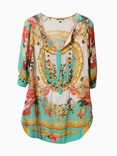 Floral T-shirt With Stud