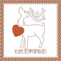 Teddy & Co.: stitch calendar  DECEMBER