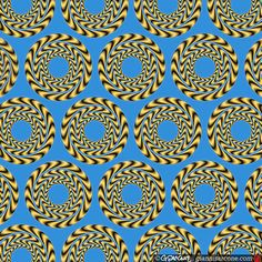 The concentric circles, here, appear to spin. By Gianni Sarcone. #optical #illusions