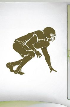 Football O Lineman Wall Decal - 0303 - Football Theme Decal - Sports Decal - Offense - Defense - 3 Point Stance