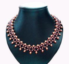 DIY necklace Elizabeth pattern tutorial