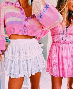 90s Grunge, Hippie Grunge, Grunge Art, Preppy Summer Outfits, Cute Casual Outfits, Pretty Outfits, Preppy Clothes, Preppy Ideas, Pink Outfits