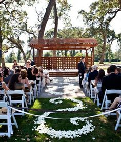 Wedding, Flowers, White, Ceremony, Aisle, Petals, The blue orchid