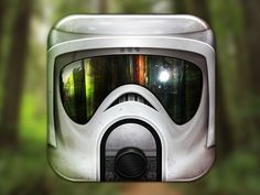 "Scout Trooper Icon - ""What's the last thing to go through an Imperial scout trooper's head when he hits a tree? His afterburner."""