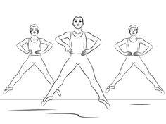 Boy Ballet Coloring page