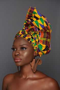 African American Beauty, African Beauty, African Hair, African Style, Natural Hair Accessories, Natural Hair Styles, Doek Styles, Head Wraps For Women, Hair Wrap Scarf