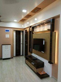 wall decor your wall's magic formula! Lcd Unit Design, Lcd Wall Design, False Ceiling Design, Lcd Units, Tv Unit Furniture Design, Modern Tv Wall Units, Tv Cabinet Design, Living Room Tv Unit Designs, Tv Wall Decor