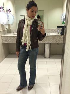 Jeans, jaqueta de couro