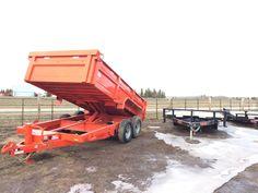 "Dump Box 35835 Bumperpull 14' x 83"" 2 x 7K Kubota Orange - HWY 43 TRAILER SALES Trailer Sales, Trailers For Sale, Enclosed Cargo Trailers, Equipment Trailers, Dump Trailers, Kubota, Orange, Box, Trailers"