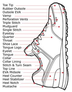 The Anatomy of a Shoe parts diagram