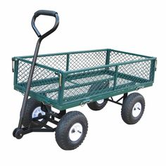 Bond Garden Cart. Easily transport clippings, tools and debris around the yard with this handy garden cart. With large pneumatic tires getting over rocks and grass is no problem at all.  10-in pneumatic wheels Fold-down steel mesh Pivot, push, and pull action UV resistant powder coated paint     Height: 20.9 inches   Length: 3 feet 1½ inches   Weight Capacity: 225lbs   Width: 20 inches   Weight: 35½lbs