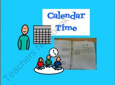 Calendar Time for Autism, Special Education, or Early Childhood! from The Autism Helper on TeachersNotebook.com (32 pages)  - Calendar tasks for children with autism or special needs sometimes need to be adapted. These students may benefit from work that is more hands on and visual. These materials could be used to make a modified circle time/morning time binder for your student