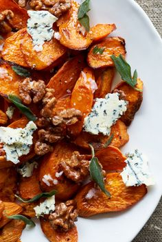 Sweet Potatoes with Stilton and Walnuts recipe: Don't like blue cheese? You can use ricotta, feta, or goat cheese instead.