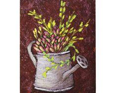 Potted succulent cactus original oil painting Vintage copper | Etsy Oil Paintings, Succulent Pots, Succulents, Fine Art Gallery, The Originals, Ua, Brown Sugar, Cactus, Celebration